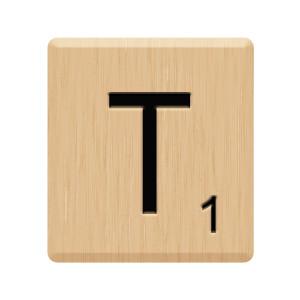 Scrabble clipart scrabble letter Polyvore Tile T Scrabble A