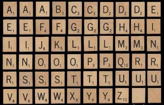 Scrabble clipart scrabble letter Scrabble Scrabble Letter Complete Set