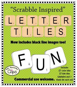 Scrabble clipart scrabble tile #6
