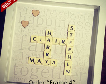 Scrabble clipart wall Art set picture gifts bedroom