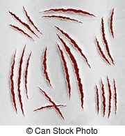 Scratches clipart drawing Vector Clip scratches Claw claws