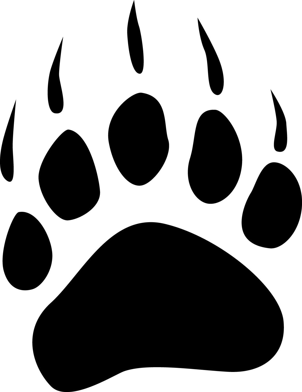 Grizzly Bear clipart paw print #6