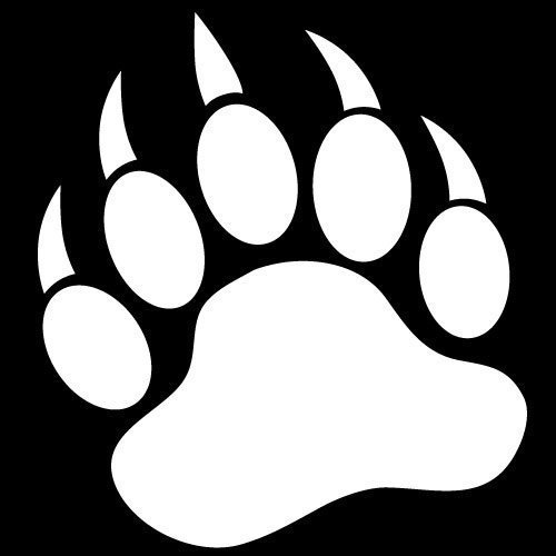 Grizzly Bear clipart paw print #1