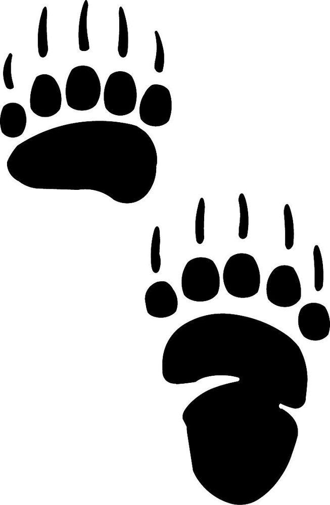 Footprint clipart polar bear Free post showing scratch Bear