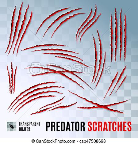 Scratches clipart logo Scratches on Predators  of