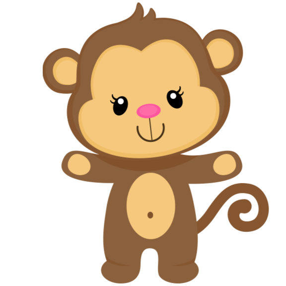 Scratches clipart monkey Shower Baby  Game Cards