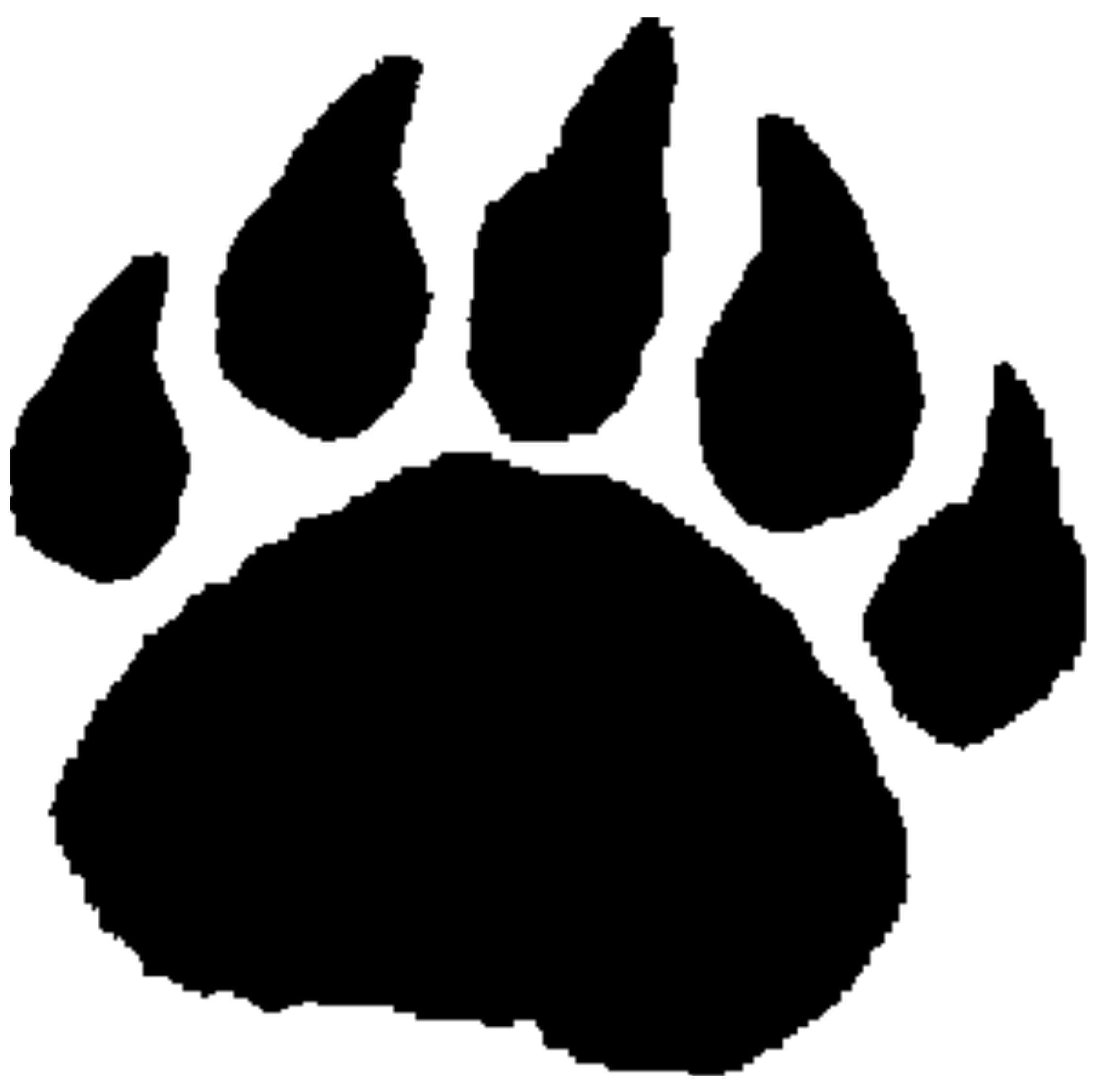 Grizzly Bear clipart paw print #12