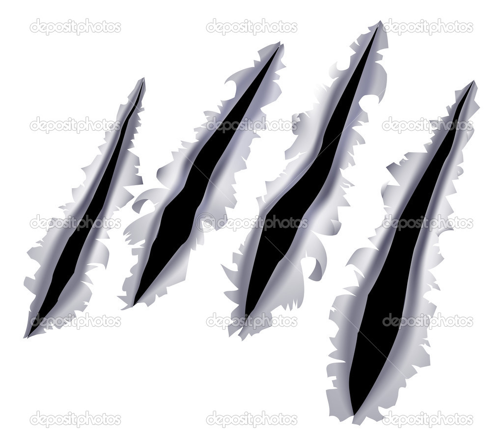 Scratches clipart slash  Clipart Slash Claw