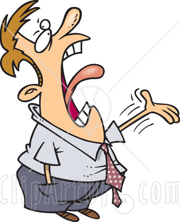 Screaming clipart #10