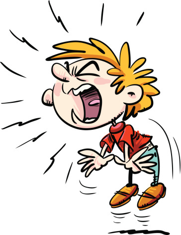 Screaming clipart #4