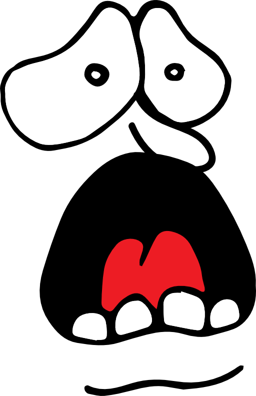 Screaming clipart #7
