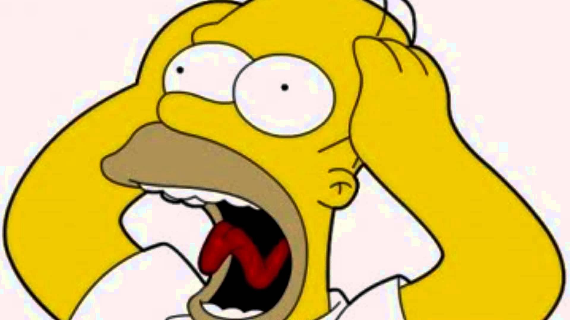 Screaming clipart don t Scream  Homer YouTube