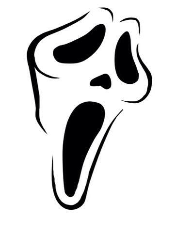 Screaming clipart ghost face Images Pinterest 116 pumpkin stencil!