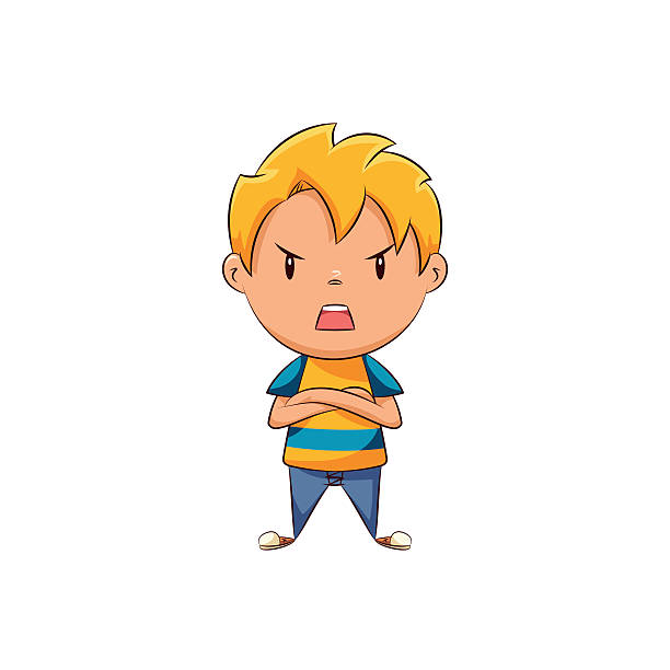 Screaming clipart mad kid Collection Vector Boy angry Clip