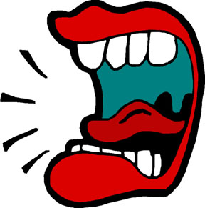 Screaming clipart mouth Talking Mouth Clipart collection Mouth