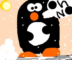 Screaming clipart oh no Penguin Bored screams no penguin