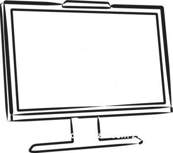Display clipart black and white 101 19 Clipart Computer Screen