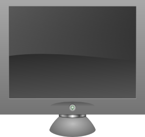 Display clipart lcd Clker  Monitor Art Clip