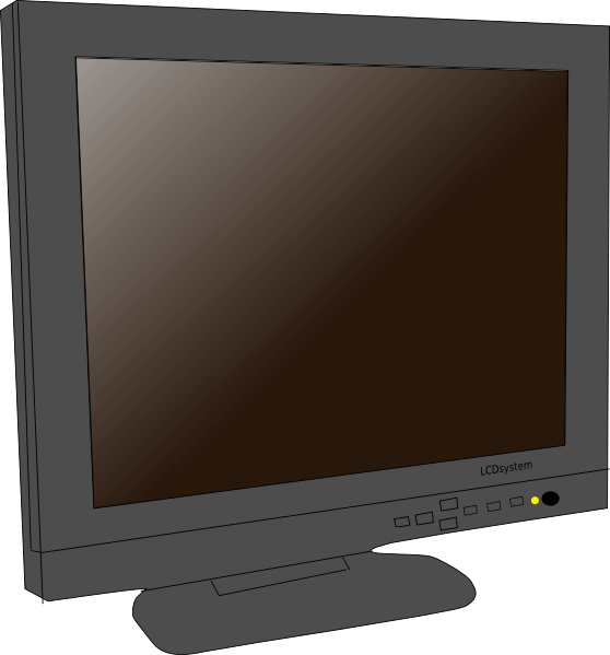 Display clipart lcd Public clip vector online domain