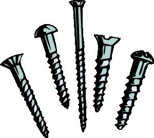 Screws clipart nails Clip  Screws Screws online