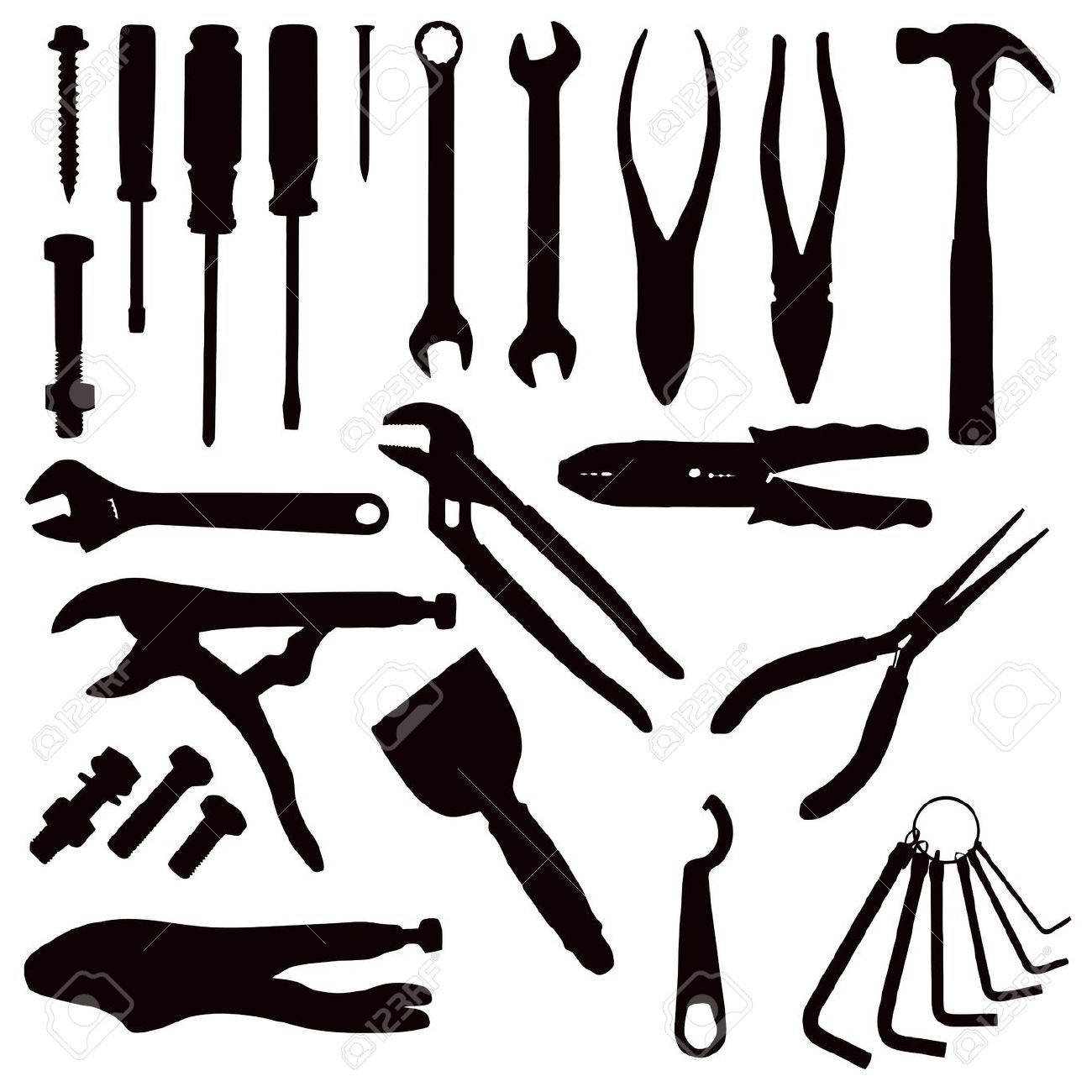 Screws clipart hand tool Hand and Clipart tools collection