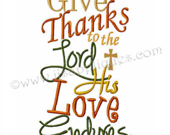 Thanksgiving clipart scripture To Thanks Verse Etsy Lord