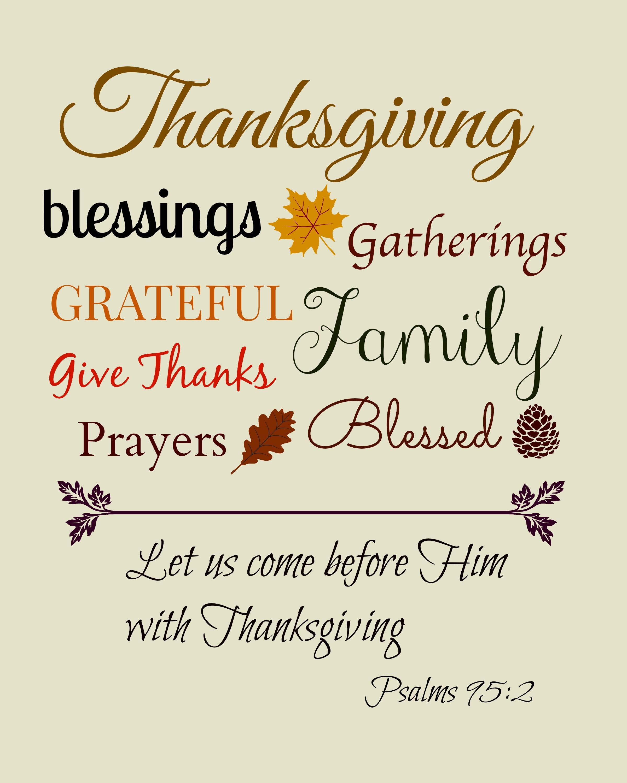 Thanksgiving clipart scripture Clip Print Bible Picture Art
