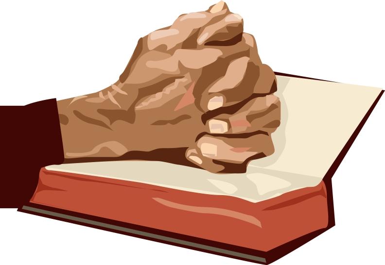 Scripture clipart praying hand #14