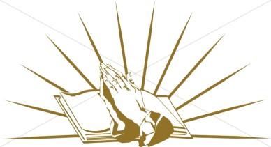 Scripture clipart praying hand #8