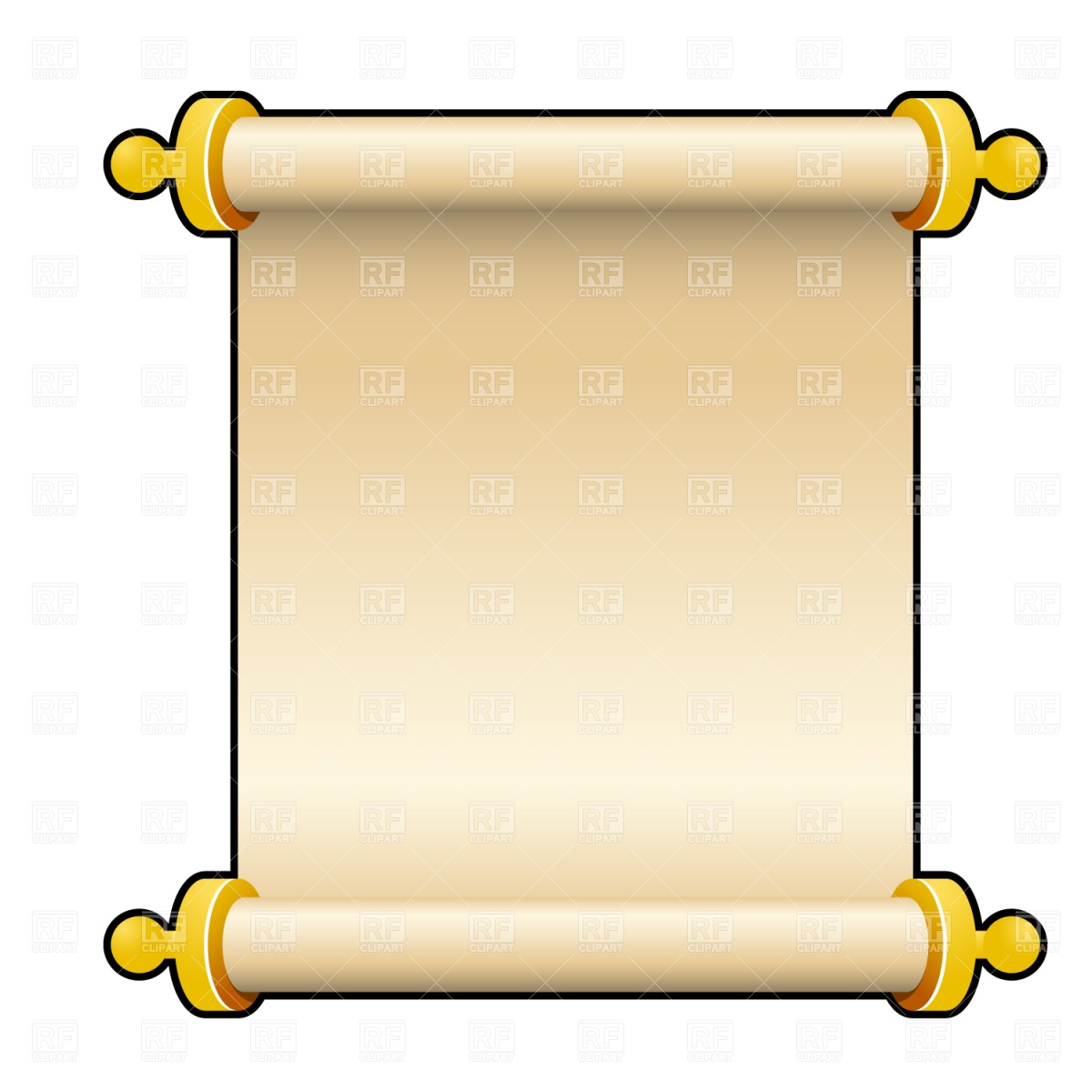 Scroll clipart Blank Clip Open collection Christmas