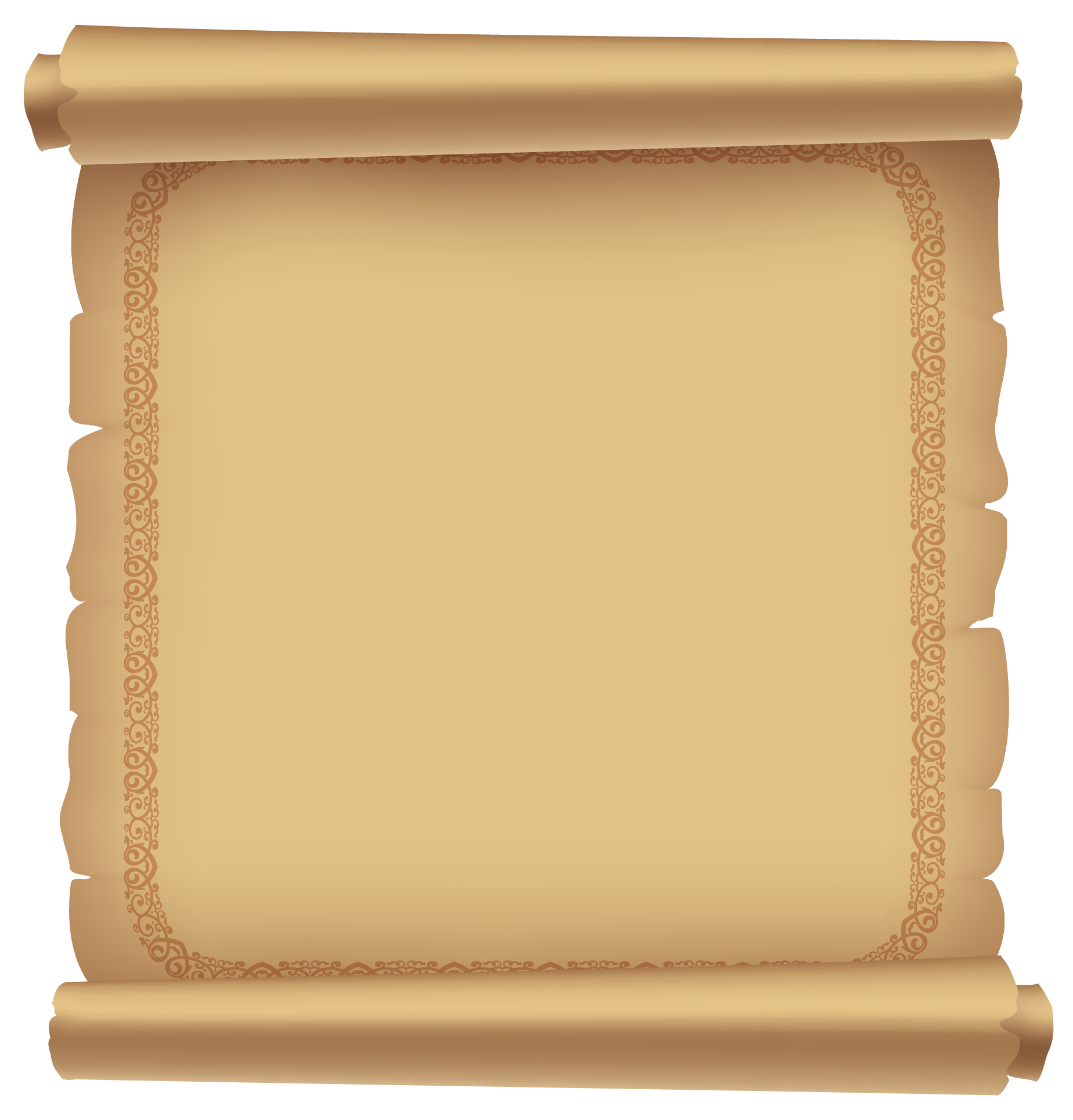 Scroll clipart ancient Ancient Paper Decorative PNG Scrolled