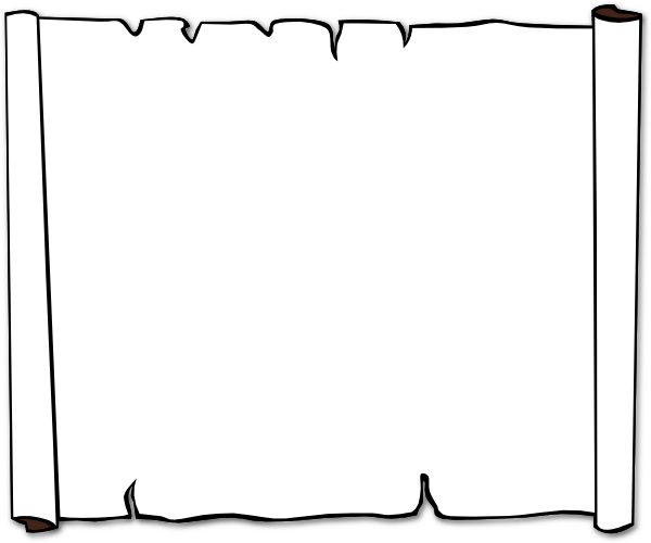 Scroll clipart black and white  Scroll online image Clker