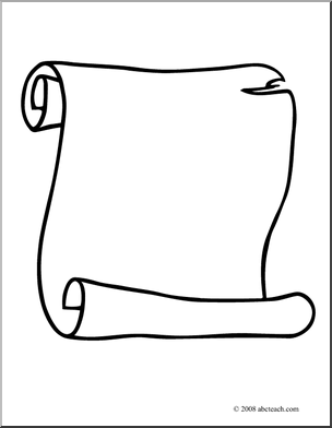Scroll clipart black and white Scroll free clipart  art