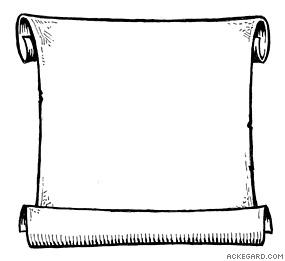 Scroll clipart black and white  Book Pinterest clip clip
