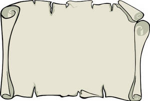Scroll clipart blank Blank clipart Top scroll Blank