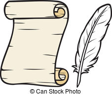 Scroll clipart feather Clipart Vector and and scroll