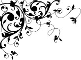Damask clipart corner Black Wedding White Flourish and