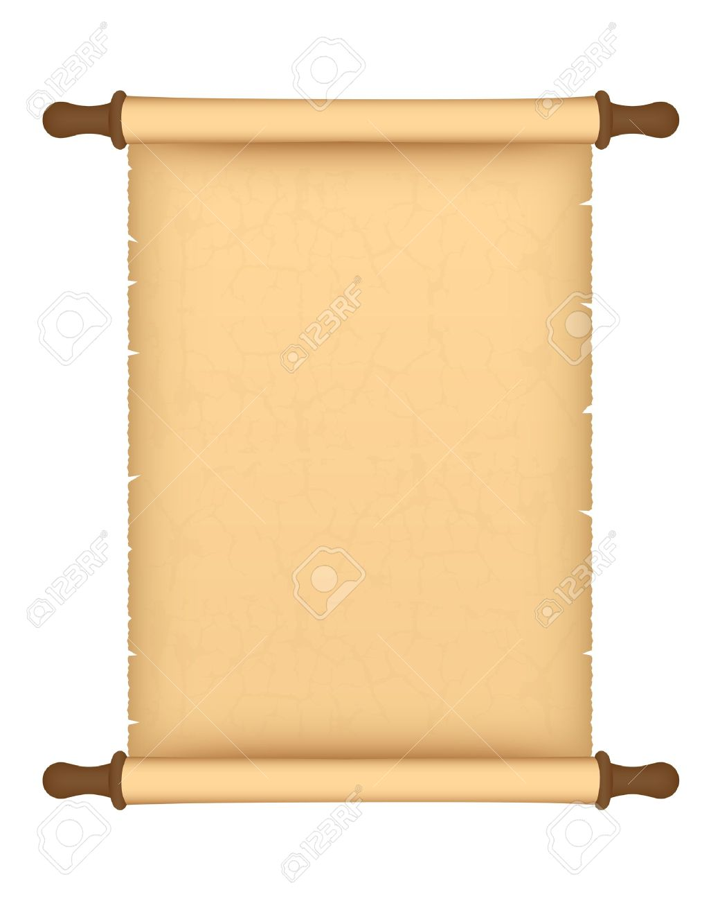 Scroll clipart parchment Vector art Roll scroll roll