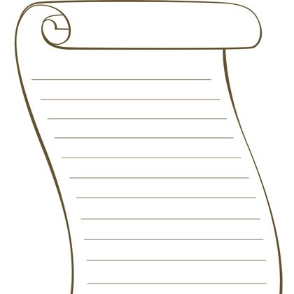 Scroll clipart printable Template Scroll Template bible