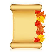 Scroll clipart sannasa With Scroll autumn paper GoGraph