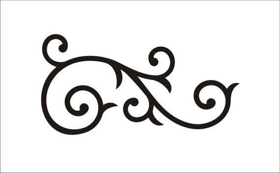 Simple clipart scrollwork Clip Art clip Clip Simple