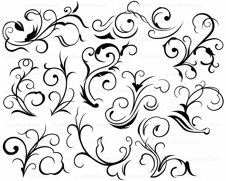 Scroll clipart swirls Scroll svg cricut silhouette Swirl