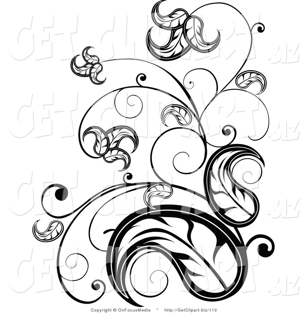 Scroll clipart vine White Art White Scrolling
