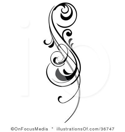 Scroll clipart vine Panda Images Design Art Clip