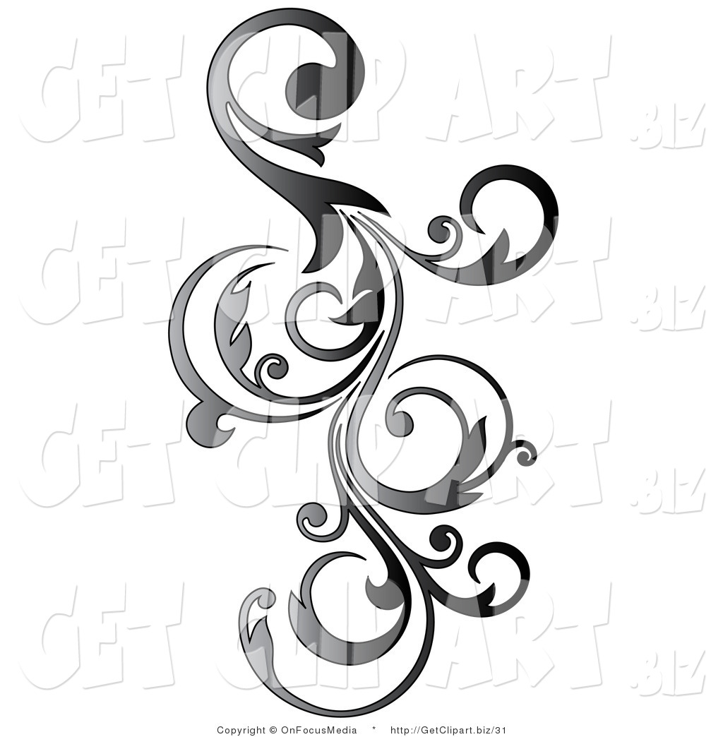 Scroll clipart vine Scroll a Curly Design a