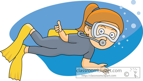 People clipart scuba diving Clipart Classroom Diving Scuba girl_scuba_diving_cartoon_71301