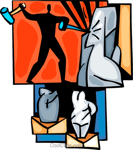 Sculpture clipart vector Hammer Sculpture chisel and collection