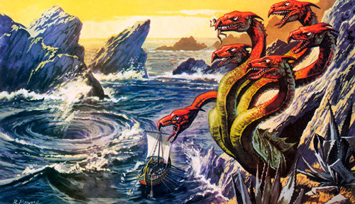 Scylla clipart Scylla Mythology Scylla Greek Greek