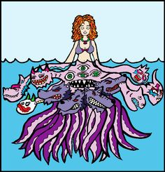 Scylla clipart Scylla Coloring Book Coloring Ancient