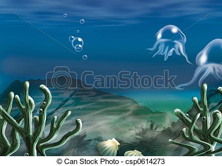 Sea Bed clipart underwate scene #6